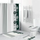 Waterproof Shower  Curtain Home Bathroom 3d Digital Dahlia Printing Drapes yul-1696-Dahlia line stitching_180*180cm