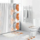 Waterproof Shower  Curtain Home Bathroom 3d Digital Dahlia Printing Drapes yul-1694-Dahlia_180*180cm
