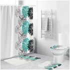 Waterproof Shower  Curtain Home Bathroom 3d Digital Dahlia Printing Drapes yul-1695-Dahlia-2_180*200cm