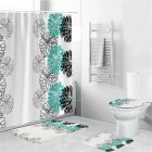 Waterproof Shower  Curtain Home Bathroom 3d Digital Dahlia Printing Drapes yul-1693-Dahlia-1 (2)_180*200cm
