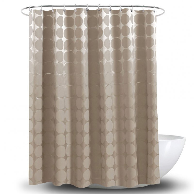 Waterproof Shower Curtains Thicken Circle Printed Curtain for Bathroom 180CM wide * 180CM high