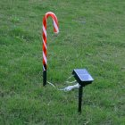 Waterproof Solar Powered Christmas Pathway Candy Cane LED Garden Light solar cane light
