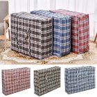 Waterproof Thicken Woven Zipped Storage Bag with Handle for Luggage 70X65X30CM
