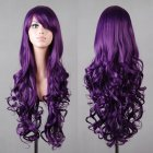Wavy Hair Cosplay Long Wigs for Women Ladies Heat Resistant Synthetic Wig purple