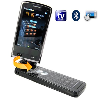 Quad Band Touchscreen Flip-Phone w/ Dual SIM, TV, Accelerometer