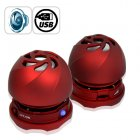 When it comes to cool gadgets for iPad  this External Speaker set for the Apple iPad cannot be beaten  These mini sized crimson red hamburger style speakers are