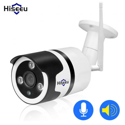 White Hiseeu Wifi Camera Outdoor