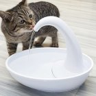White Swan Shape Automatic Water Cycling USB Charging Drinking Fountain for Pet Swan water dispenser