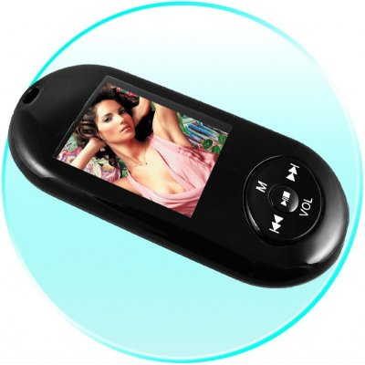 1GB MP4 Player - Thin Pebble Shape - 1.8-Inch TFT + Voice Record