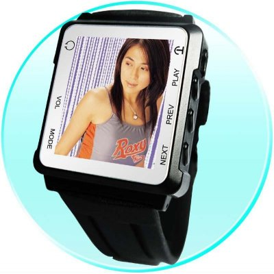 RF MP4 Watch Player 1GB - 1.8-inch OLED Screen