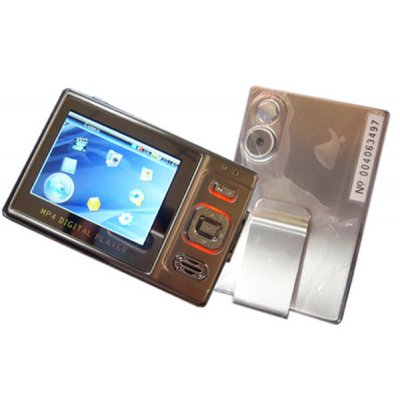 MP4 Player 1GB, 2M Pixel, 2.4-inch LCD, Metal casing, SD Slot