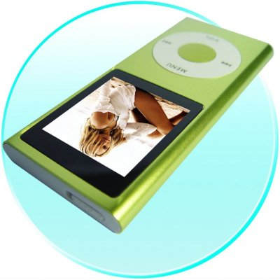 Super-Popular Slim Metal-body MP4 Player, 1.5-inch Screen 1GB