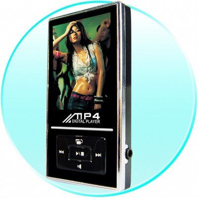 1GB Slimline MP4 Player - 1.8 Inch Screen - FM Radio