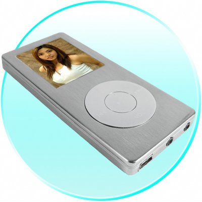 Steel MP4 Digital Media Player 2GB - Large 1.8 Inch Screen