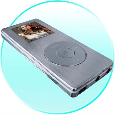 Steel MP4 Portable Media Center - 1.5 Inch CTSN Screen - 4GB