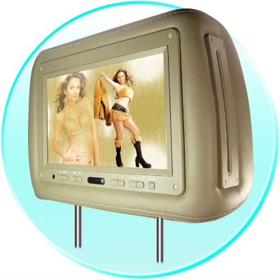 9.2inch Headrest TFT LCD Monitor with Pillow and DVD