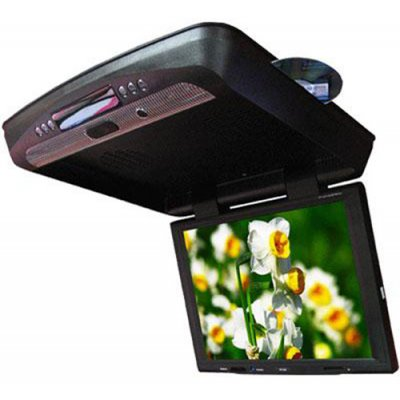 15-inch Flip Down DVD Player with IR and FM Transmitter