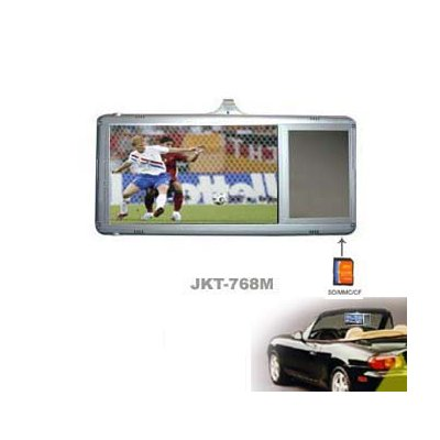 "7"" Sun Visor In-car LCD Monitor (right side), Support SD/MMC/CF"