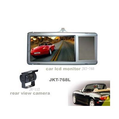 Clip-On Car Rearview Mirror Monitor With Rearview Camera