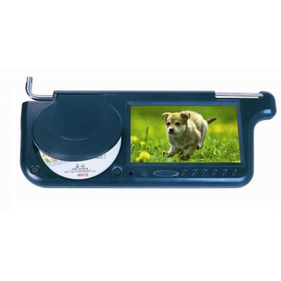 7-inch Sun Visor, Widescreen 16:9 TFT LCD(Left Side)