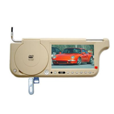 7inch Sun Visor DVD With TV and FM Transmission - Left Side