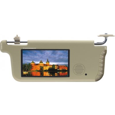 7 Inch LCD Screen Sun Visor With TV Receiver - Right Side