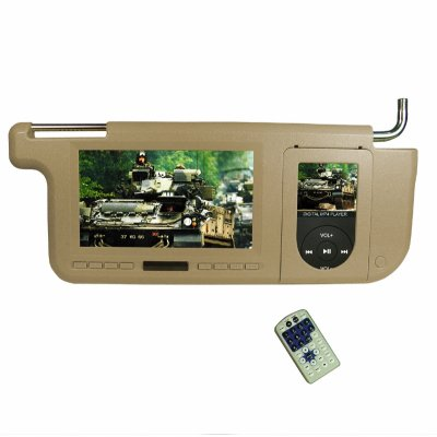 Sun Visor Monitor - iPod Player + SD Reader + FM Transmitter