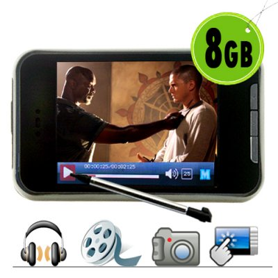 8GB Touch Screen MP4 Player with Video Camera