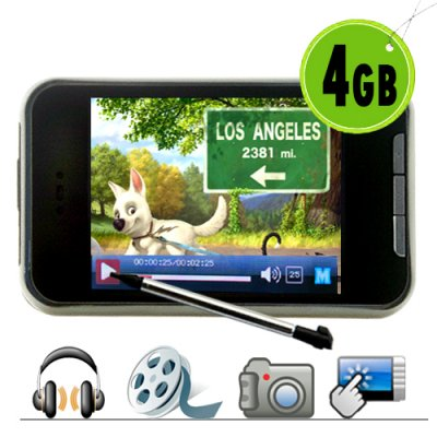 4GB Touch Screen MP4 Player with Video Camera