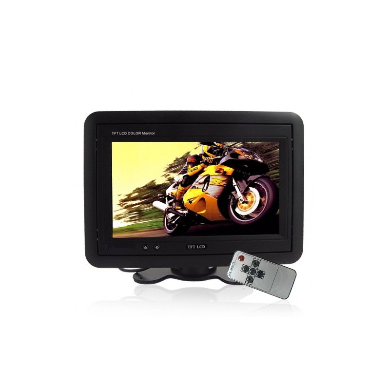 7 Inch TFT Headrest Monitor Black