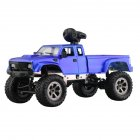 WiFi 2 4G Remote Control Car 1 16 Military Truck Off Road Climbing Auto Toy Car Controller Toys WIFI blue hollow tire with camera 1 16