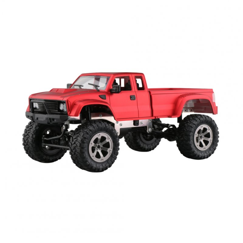 WiFi 2.4G Remote Control Car 1:16 Military Truck Off-Road Climbing Auto Toy Car Controller Toys Red hollow tire_1:16