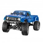 WiFi 2.4G Remote Control Car 1:16 Military Truck Off-Road Climbing Auto Toy Car Controller Toys Blue hollow tire_1:16