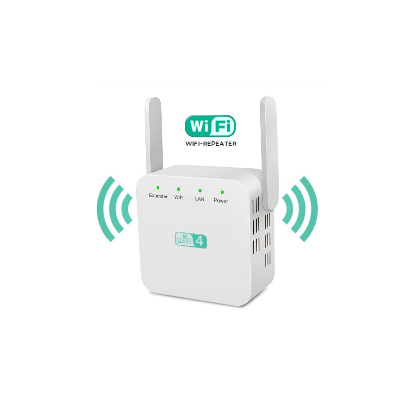 WiFi 300Mbps Amplifier WiFi  Router 2 External Antenna Wifi Range Amplifier white_Britain wire gauge