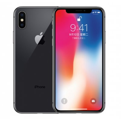 Refurbished Apple iPhone X Black UK-Plug