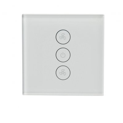 Wifi Smart Fan Controller Wall Switch Touch Panel for Alexa Voice Control  European Regulation