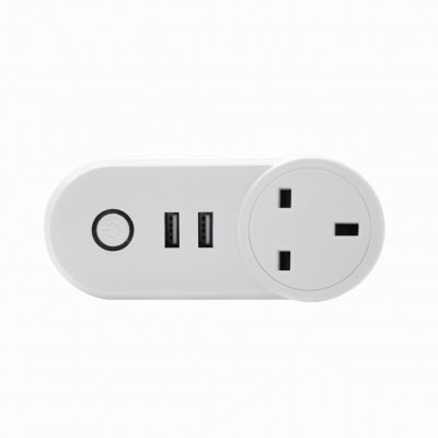 Wifi Smart Socket with USB Outlet - UK Plug