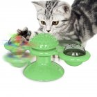 Windmill Cat Toy Interactive Turntable Massage Brush for Pet Kitty Scratching Tickle green