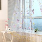 Window Curtain Branch Butterfly Offset Screen for Living Room Home Shading Decoration W100cm * H270cm (wearing rod)_rose Red