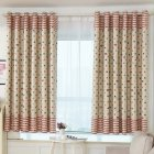 Window Curtain with Simple  Printing Balcony Living Room Bedroom Shading Drapes As shown_1m wide x 2m high punch