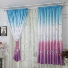 Window Curtain with Butterflies Pattern Half Shading Drapes for Living Room Bedroom As shown_1m wide * 2m high