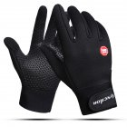 Windproof Sports Gloves Touch Screen Gloves Hook and Loop Fasteners Climbing Cycling black_XL