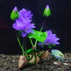 Wine Barrel Lotus Shape Decor Resin Crafts for Fish Bowl Aquarium Accessaries Lotus root lotus deep purple