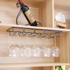 Wine Cup Holder Goblet Upside Down Wall Mounted Rack Glass Organization Shelf Stemware Storage 5 slots