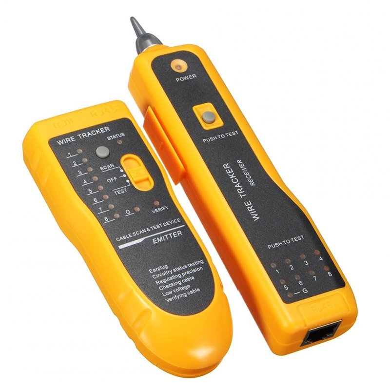 Wire Tracker RJ11 RJ45 Line Finder Cable Tester for Network Cable Collation, Telephone Line Test with Low Battery Capacity Indication