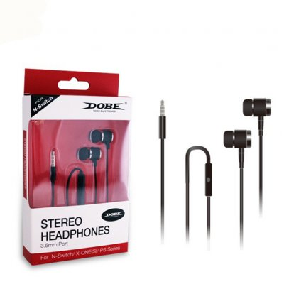 Wired Earphones Plastic High Fidelity 3.5mm Wired Treble and Bass No Noise Nno Cracking Voice Black