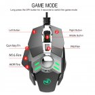 Wired Gaming Mouse 6400DPI 7-Key Programmable Backlight Mechanical Design Computer Mice  silver grey