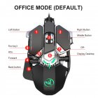 Wired Gaming Mouse Adjustable DPI 9Key J600 Macro Definition Programmable Wired Mouse Gamer Mice Breathing light for Computer Laptop PC PUBG black