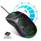 Wired Gaming Mouse RGB 6 Button Computer Mouse Gamer Mice for PC Laptop J900 black