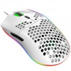 Wired Gaming Mouse RGB 6 Button Computer Mouse Gamer Mice for PC Laptop J900 white